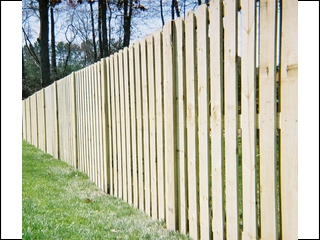 Straight Top Shadowbox Fence with exposed posts